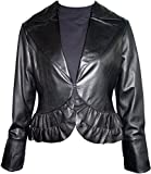 Paccilo tailoring Women 4024 PETITE Lamb Leather Bolero by NYC Leather Factory Outlet