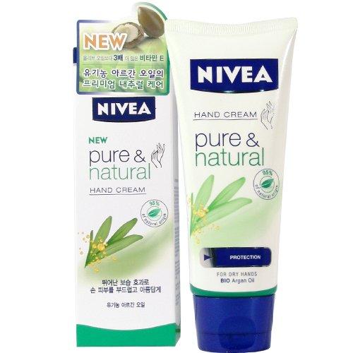 ニベア pure&natural hand cream ハンドクリーム 100ml