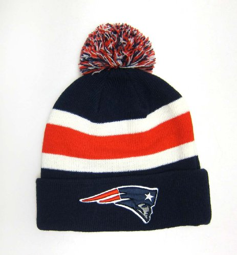 Nfl New England Patriots Men'S Breakaway Knit Cap, One Size, Light Navy