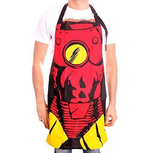 Schürze Iron Man-Kostüm, rot, one size