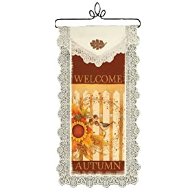 Heritage Lace 12-Inch by 20-Inch Halloween Wall Hanging