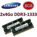 8Go mémoire - Kit double canal SAMSUNG original 2 x 4 Go 204 broches DDR3-1333 PC3-10600 SO-DIMM (2x M471B5273CH0-CH9) mémoire portable ordinateur DDR3 + Apple iMac (Mid 2010)