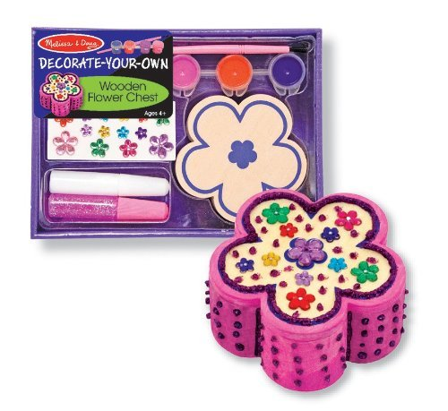 Melissa & Doug Wooden Flower Chest - DYO - 1