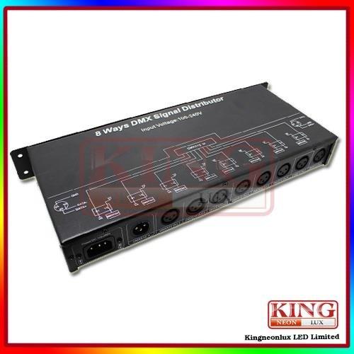 Dmx128 8 Ways Dmx Signal Distributor For Led Lighting Led Strip