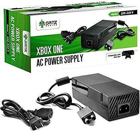Ortz® AC Adapter Power Supply Cord for Xbox One [QUIET VERSION] Best for Charging - Brick Style - Great Charger Accessory Kit with Cable