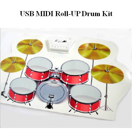 Generic Usb Midi Pc Desktop Digital Electronic Roll Up Drum Pad Kit Dj Disco Party