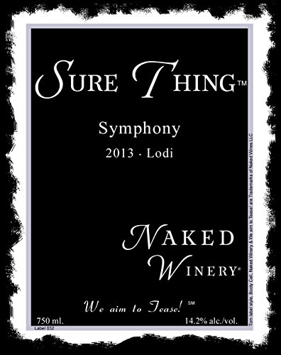 2013 Naked Winery Sure Thing Symphony 750 Ml