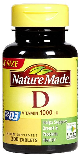 Nature Made Vitamin D-3 1000IU, 200 Tablets