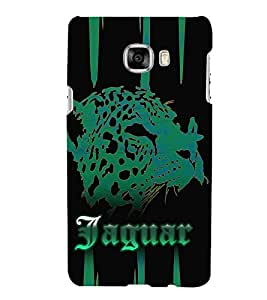 Jaquar Cheeta Art Cute Fashion 3D Hard Polycarbonate Designer Back Case Cover for Samsung Galaxy C7