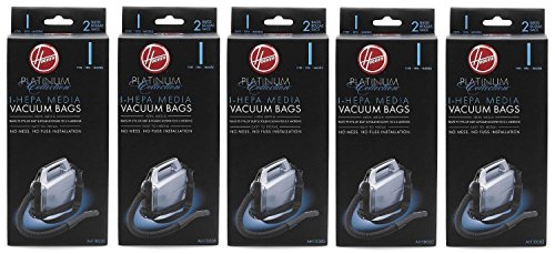 Hoover Type I HEPA Bag , AH10005 (5 Packs of 2: Total 10 bags) (Hoover Vacuum Uh30010com compare prices)