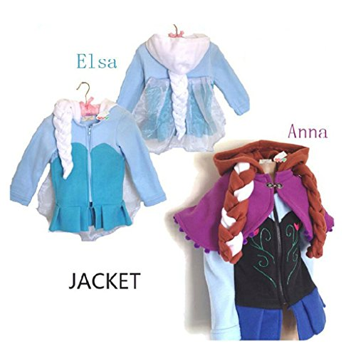 HYS Fashion Winter Elsa Anna Kid Child Cosplay Jacket