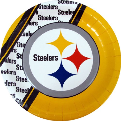 Steelers Paper Plates 20 Pack at Steeler Mania
