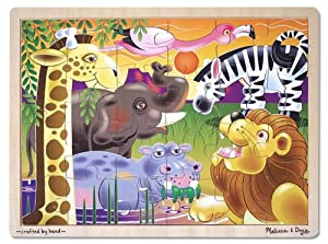 Melissa & Doug African Plains Jigsaw Puzzle (24 Pieces)