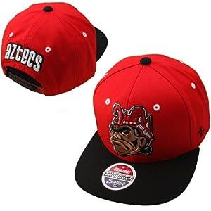 Buy NCAA San Diego State Aztecs Refresh Snapback Cap, Scarlet by Zephyr