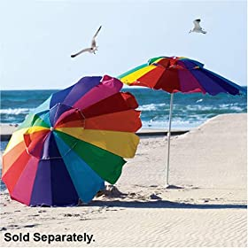 Rainbow 8' Beach Umbrella with Carry Bag - Towa Umbrella