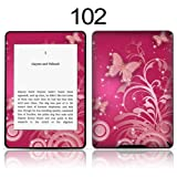 TaylorHe Vinyl Skin Decal for Amazon Kindle Paperwhite Ultra-slim protection for Kindle MADE IN BRITAIN FREE UK DELIVERY Design of Pink Butterflies