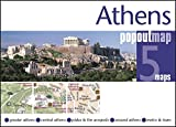 Athens PopOut Map: pop-up city street map of Athens city center - folded pocket size travel map with transit map included (PopOut Maps)