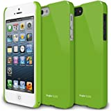 Estuche duro Ringke SLIM LF para Apple iPhone 5 color verde.