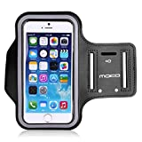 MoKo Sports Armband for iPhone 6 Plus, Samsung Galaxy Note 4 / 3 / 2, Droid Turbo and LG G3 – Key holder Slot, Perfect Earphone Connection while Workout Running, BLACK (Compatible with Cellphones up to 5.7 Inch)