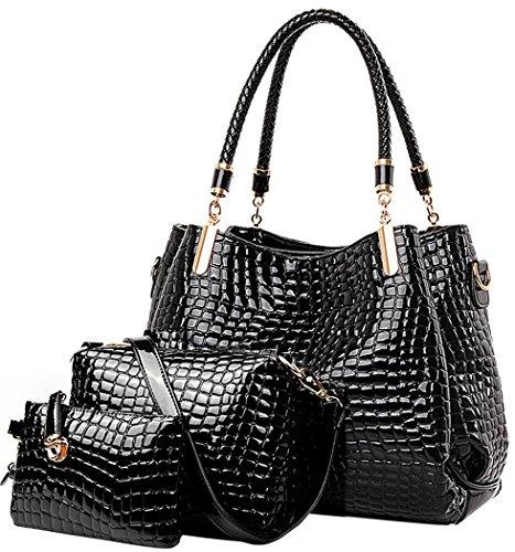 Pelle di coccodrillo donne borsa Set: Signore Hobo tracolla e borsa