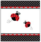 Creative Converting Ladybug Fancy Plastic Table Cover, Rectangle 54 X 108""