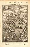 IONIAN ISLANDS: Ithaca Lefkada Zakynthos Kefalonia. Greece. MALLET, 1683 map