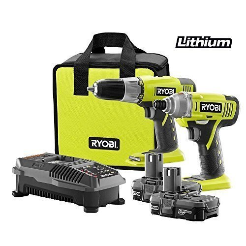 Ryobi-P882-One-18v-Lithium-Ion-Drill-and-Impact-Driver-Kit