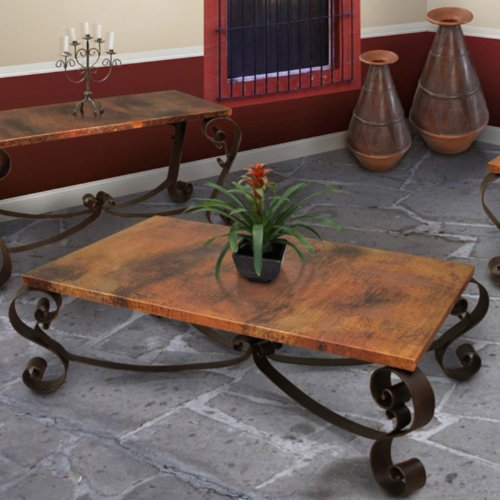 Copper Top Rectangular Coffee Table: Buy Low Price Artisan Mallorca Rectangle Copper Coffee