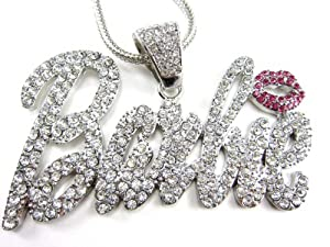 "Fully Iced Out Nicki Minaj Barbie Pendant & 20"" Franco Necklace"