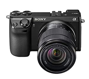 Sony NEX7KB.CEH Digital Compact System Camera with 18-55 Lens Kit (24.3MP, 10x Digital Zoom) 3.0 inch LCD Screen