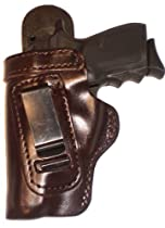 Taurus Model 85 Heavy Duty Brown Left Hand Inside The Waistband Concealed Carry Gun Holster With Forward Cant and Slide Guard Bodyshield