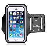 【ShineZone】Apple iPhone 6 Plus 5.5インチ 専用アームバンド ランニング スマホケース スポーツアームバンド  キーポケット付 超軽量  (ブラック)
