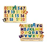 Melissa and Doug Numbers and Alphabet Sound Puzzle Bundle