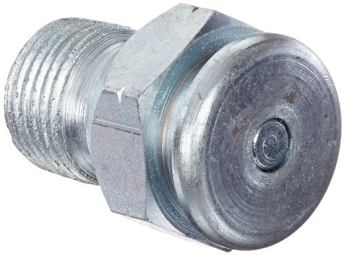 """Alemite 1822-A1 Giant Button Head Fitting, 1-5/16"""" Oal, 7/8"""" Hex, 3/8"""" Male Nptf"""