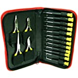 Trademark Tools 75-5216 16-Piece Precision Jewelers Tool Set with Case