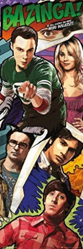 Big bang Theory Comic Book Parody TV Show Door Poster 12x36 (Big Bang Theory Penny Poster compare prices)