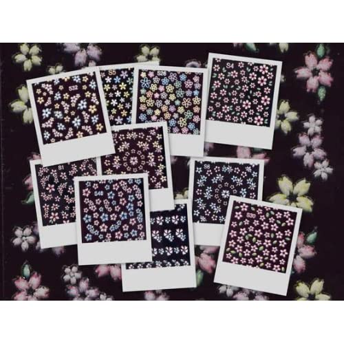 20 PACKS 3D NAIL ART STICKERS DECALS