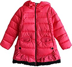 Girls39 Kids Thickened Down Puffer Jacket Hooded Winter Coat Snowsuit