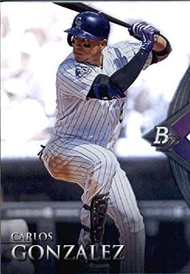 2014 Bowman Platinum Baseball Card #39 Carlos Gonzalez Colorado Rockies MINT