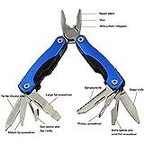 "Rose Kuli 7"" Portable Stainless Steel Multipurpose Tool Multifunctional Knife Axe with Hammer Plier"