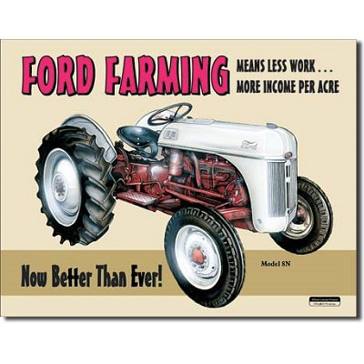 Discount Ford Farming 8N Tractor Retro Vintage Tin Sign