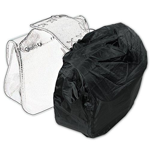 Copri Borsa Moto Impermeabile Anti Pioggia Acqua Cover Telo Tessuto Nero