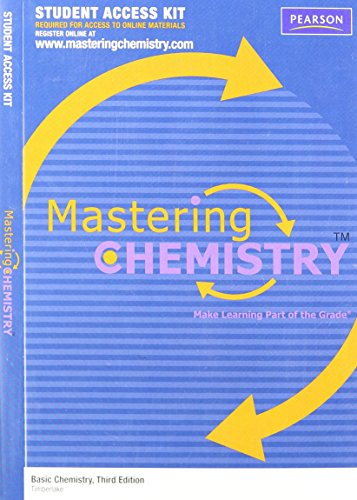 MasteringChemistry -- Standalone Access Card -- for Basic Chemistry