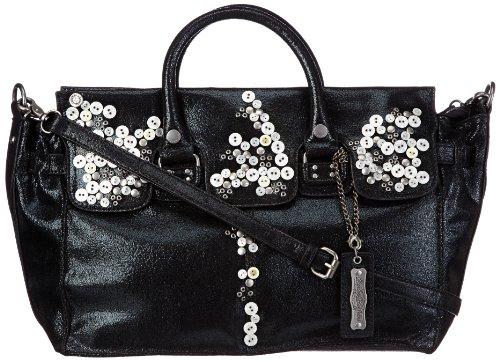 REPLAY Womens FW3333.000.A0092 Handbag Black Schwarz (Schwarz) Size: 44x31x17 cm (B x H x T)
