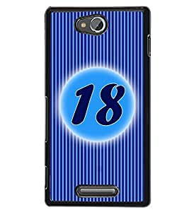 Fuson 2D Printed Numerology Designer back case cover for Sony Xperia C - D4236