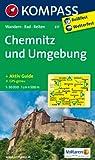Chemnitz und Umgebung: Wanderkarte mit Aktiv Guide, Rad- und Reitwegen. GPS-genau. 1:50000