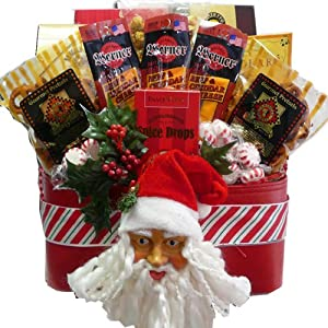 Art of Appreciation Gift Baskets   Santa's Favorite Christmas Holiday Snacks