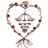 51Dsxf nnGL. SL160  20 inch Rotating Spin Antique Heart Shape Bird Cage 98 Pair Earrings / Bracelets Necklace Jewelry Organizer Holder Home Décor Tabletop Display Stand