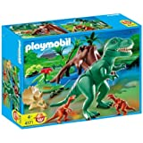 Playmobil T-rex With Velociraptors