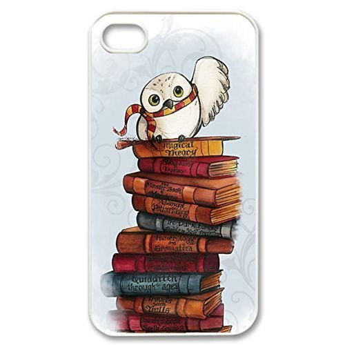 SUUER cute harry potter owl hedwig Custom Hard Case for iPhone 4 4s Durable Case Cover (Iphone 4s Custom Case compare prices)